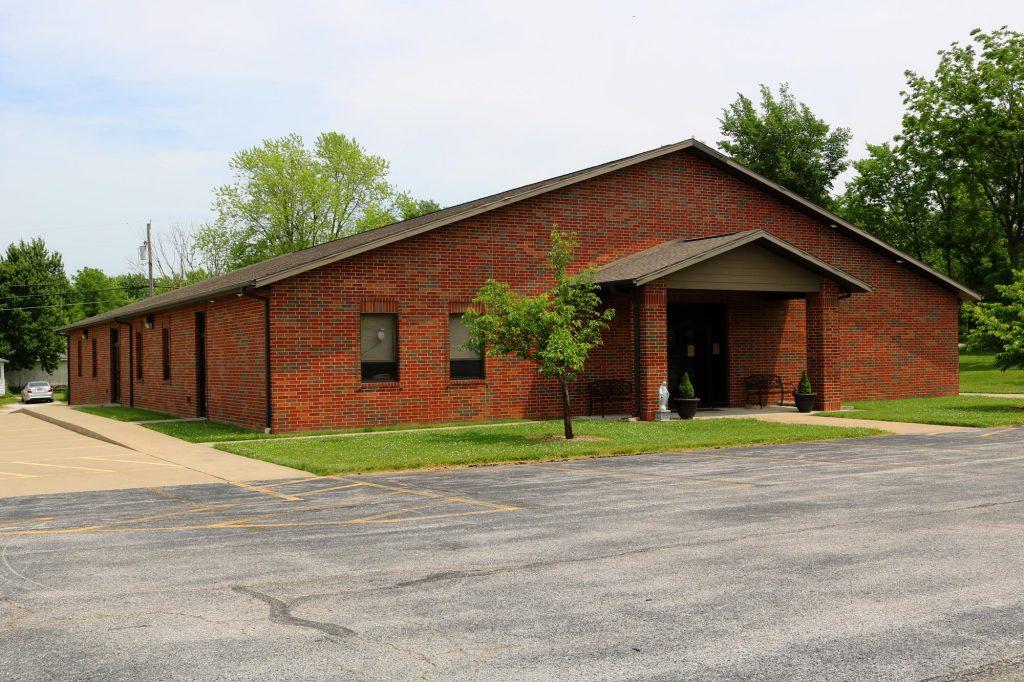 Parish hall exterior at Holy Trinity Catholic Church