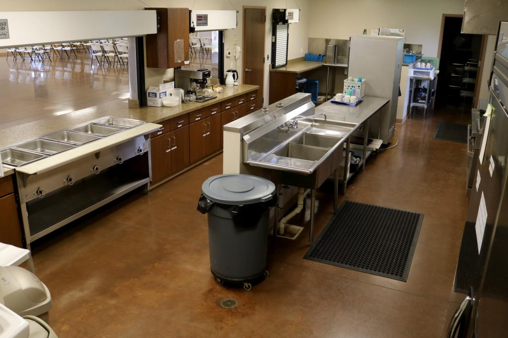 Commercial kitchen in the Parish hall at Holy Trinity Catholic Church