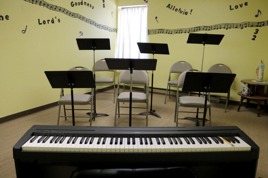 Choir room at Holy Trinity Catholic Church