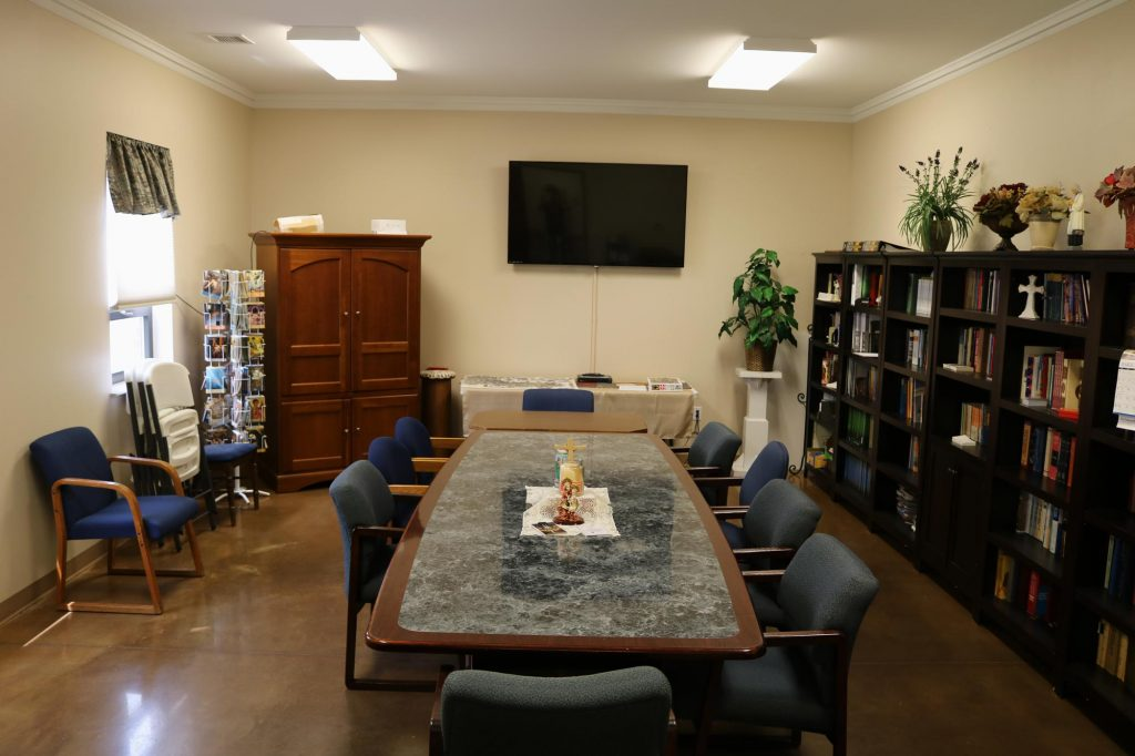 The conference room in the Parish hall at Holy Trinity Catholic Church