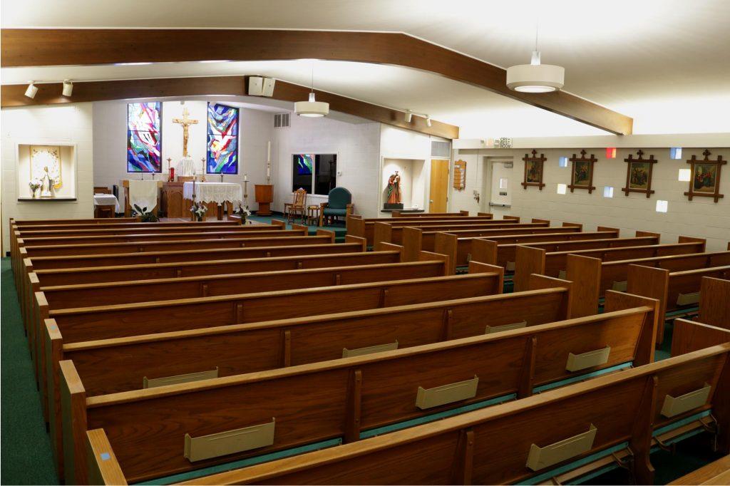 Interior of Holy Trinity Catholic Church