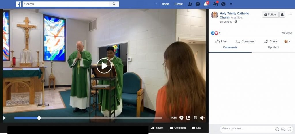 streaming Mass video on facebook